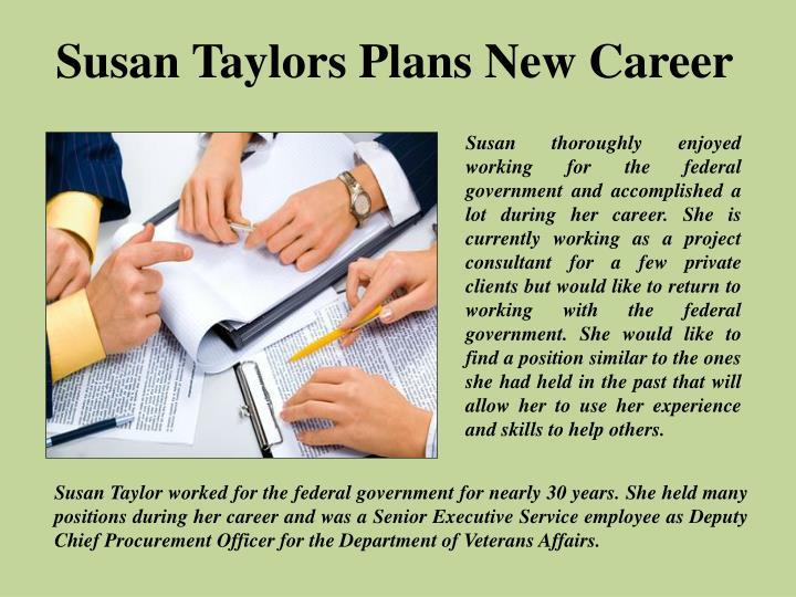 Susan Taylors Plans New Career