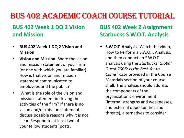BUS 402 Academic