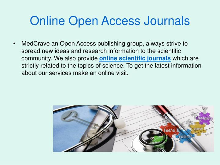 Online Open Access Journals