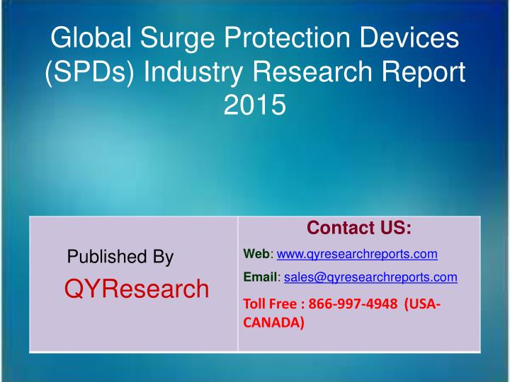 Global Surge Protection Devices