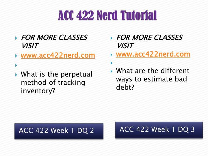 ACC 422 Nerd Tutorial