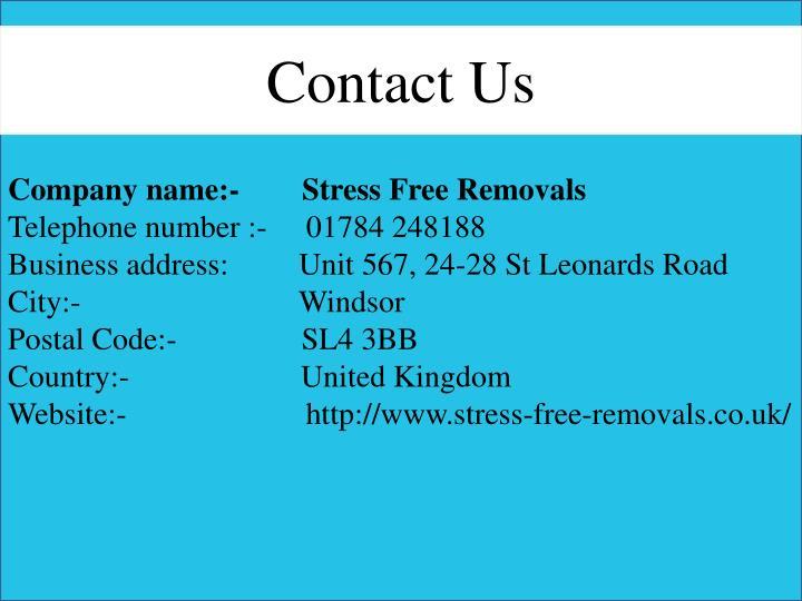Company name:-        Stress