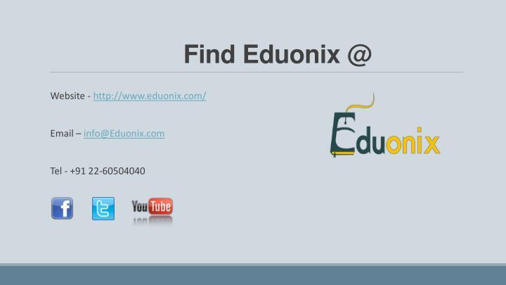 Find Eduonix @