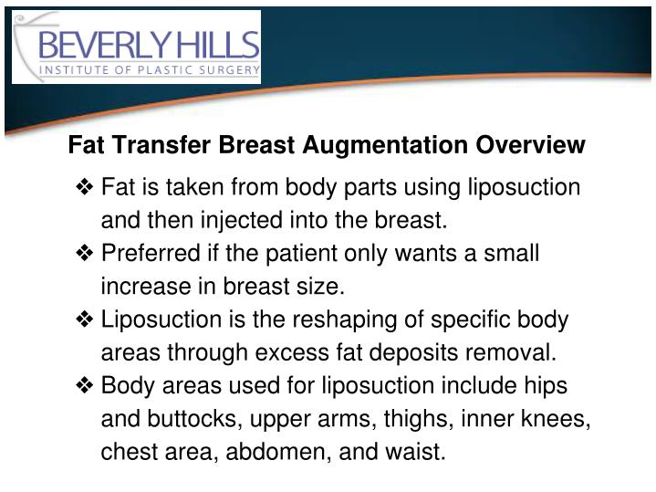 Fat Transfer Breast Augmentation Overview