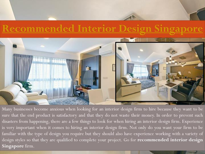 Recommended Interior Design Singapore