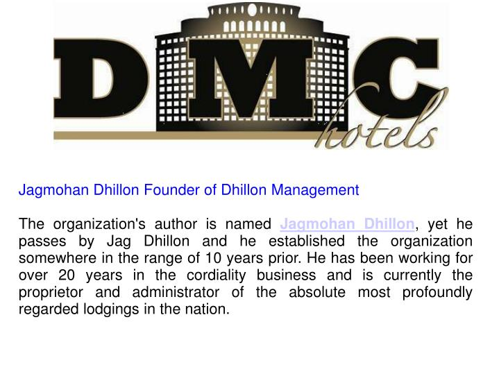 Jagmohan Dhillon Founder of Dhillon Management