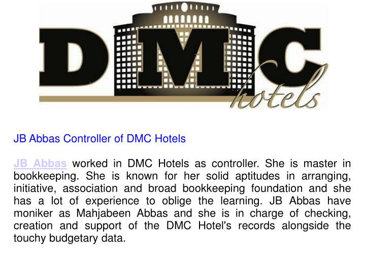 JB Abbas Controller of DMC Hotels