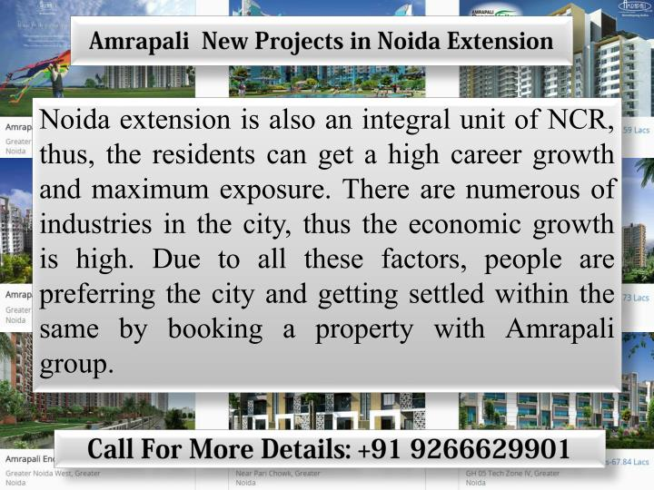 Amrapali  New Projects in Noida Extension