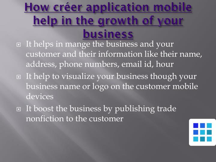 How créer application mobile help in the growth of your business