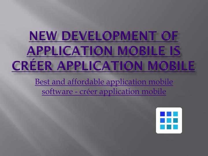 New development of application mobile is cr er application mobile