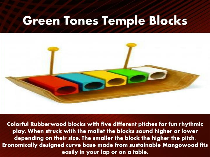 Green Tones Temple Blocks