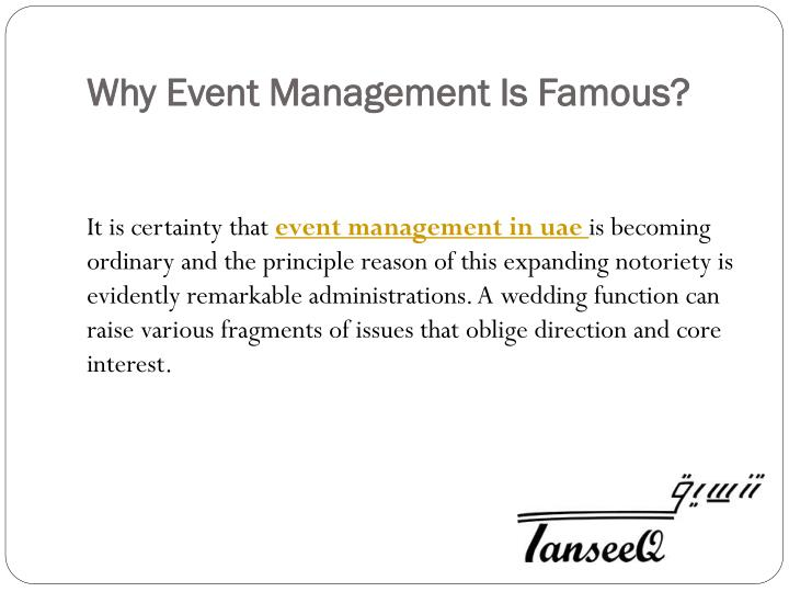 Why Event Management Is Famous?