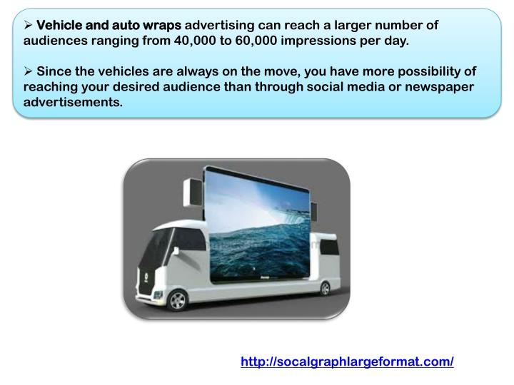 Vehicle and auto wraps