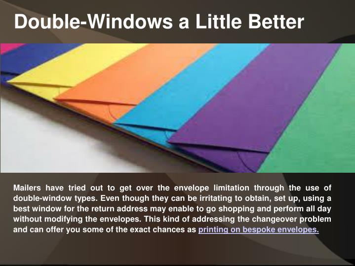 Double-Windows a Little Better