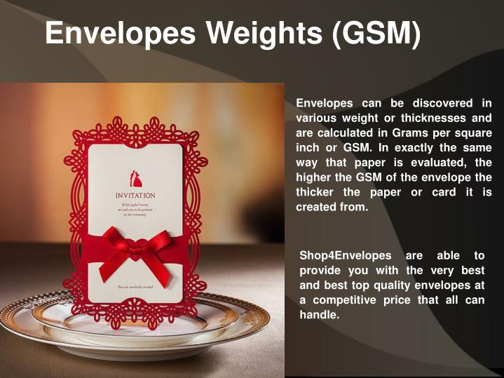 Envelopes Weights (GSM)