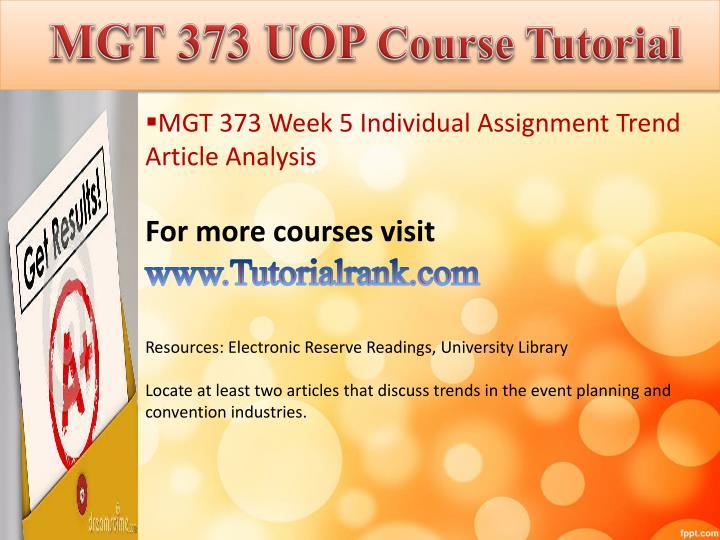 MGT 373