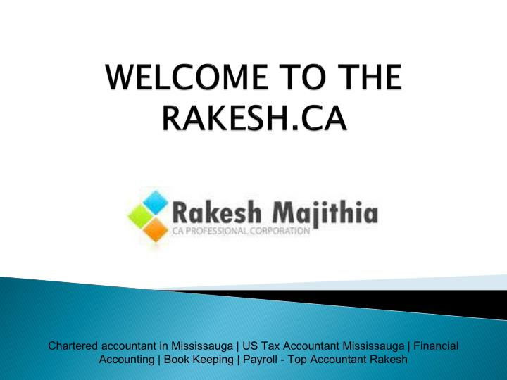 Welcome to the rakesh ca