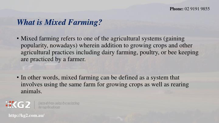 What is mixed farming