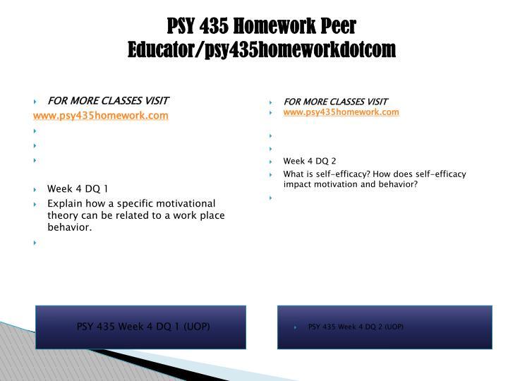 PSY 435 Homework Peer Educator/psy435homeworkdotcom