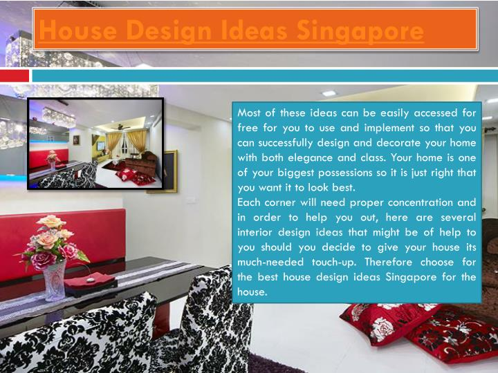 House design ideas singapore