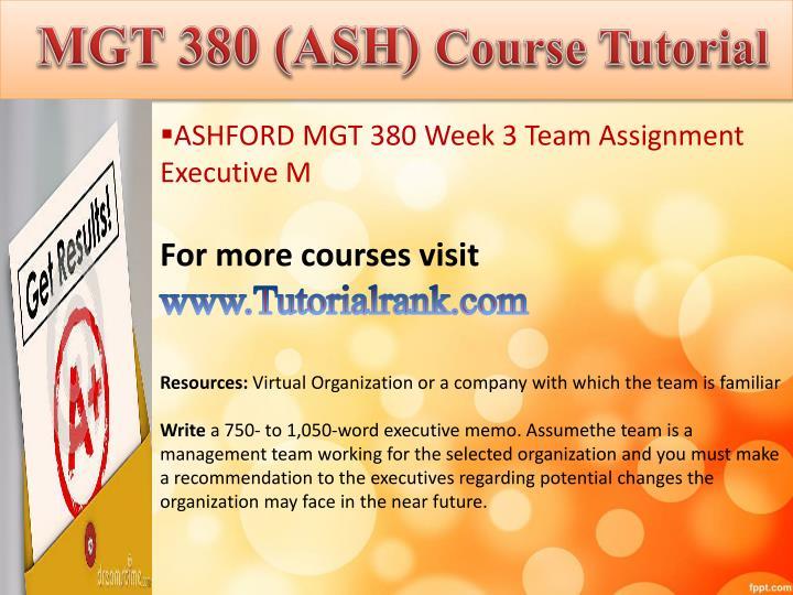 MGT 380 (ASH)