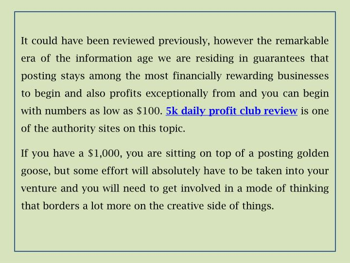 It could have been reviewed previously, however the remarkable era of the information age we are residing in guarantees that posting stays among the most financially rewarding businesses to begin and also profits exceptionally from and you can begin with numbers as low as $100.