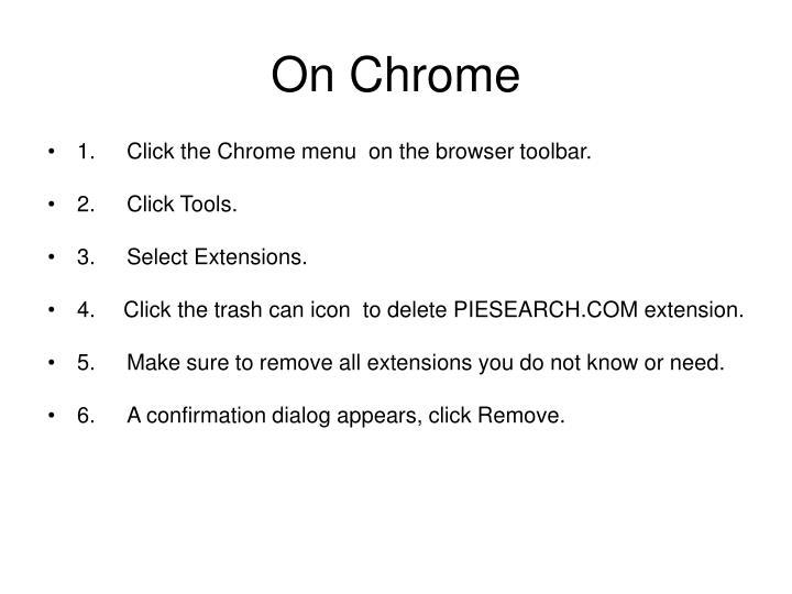 On Chrome