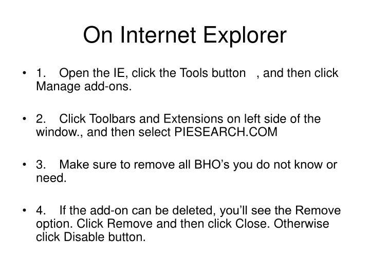 On Internet Explorer