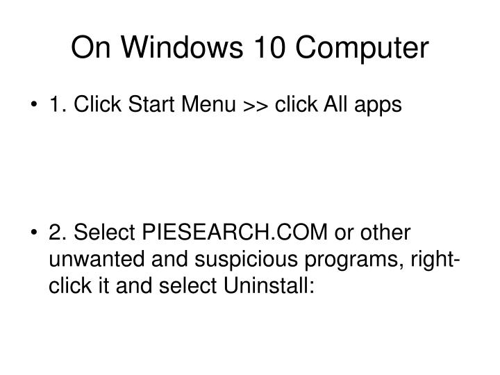 On Windows 10 Computer