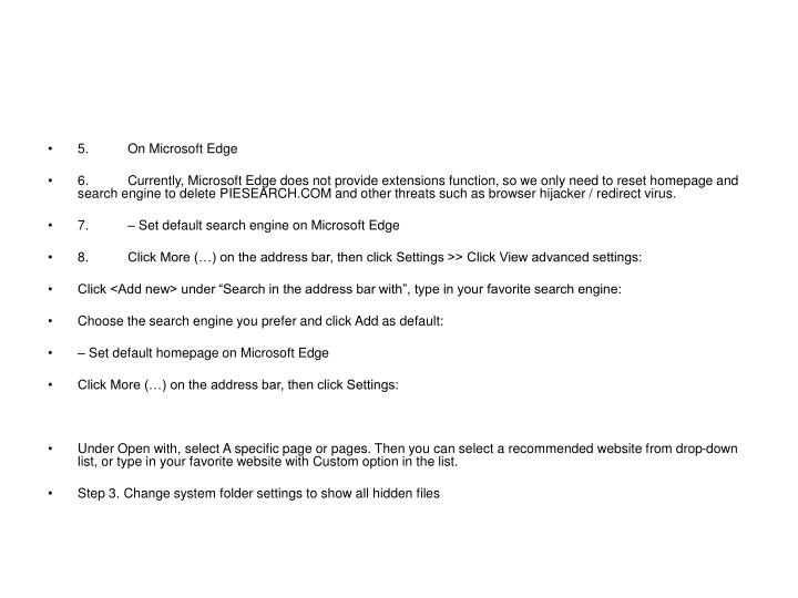 5.On Microsoft Edge