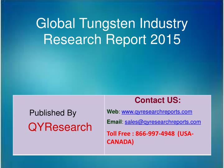 Global Tungsten Industry