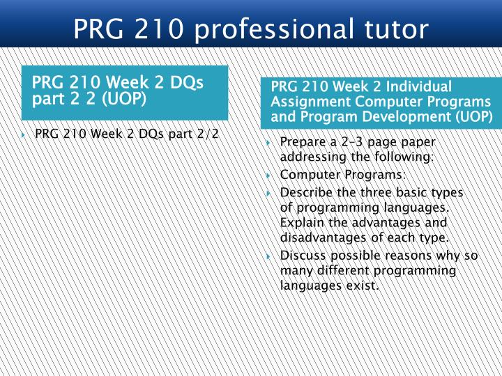 PRG 210 Week 2 DQs part 2 2 (UOP)