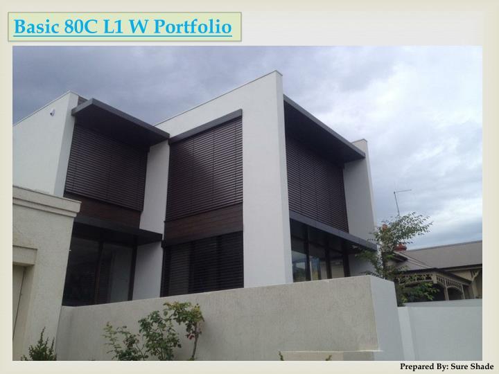 Basic 80C L1 W Portfolio