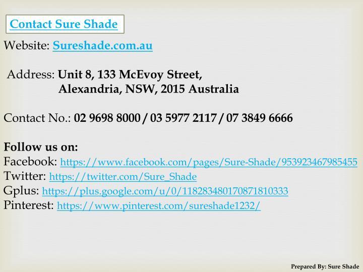 Contact Sure Shade