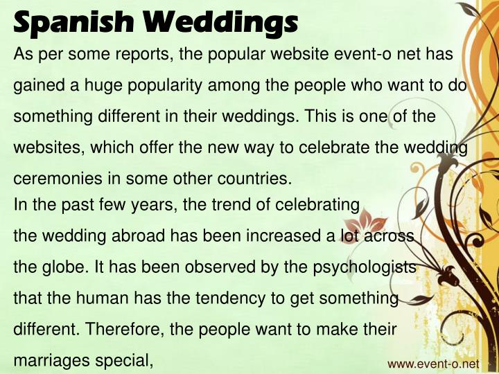 Spanish Weddings