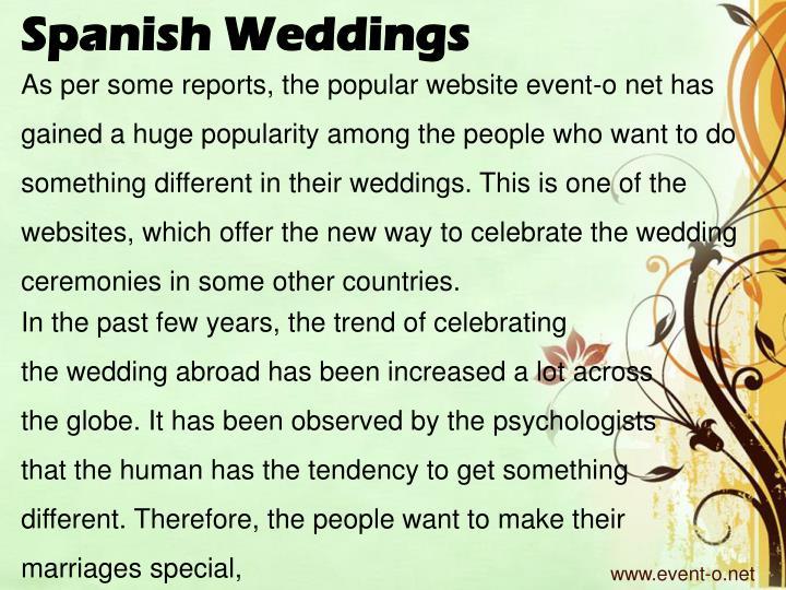 Spanish Weddings