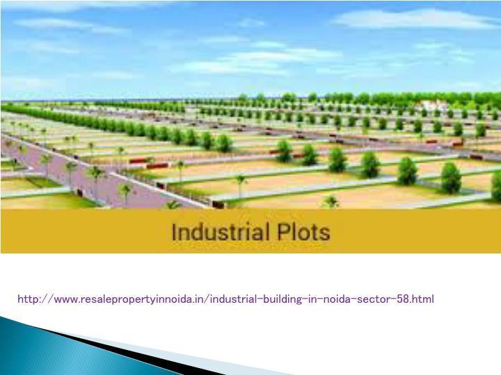 http://www.resalepropertyinnoida.in/industrial-building-in-noida-sector-58.html