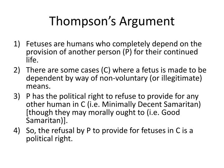 Thompson's Argument