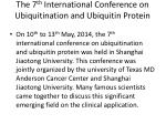 the 7 th international conference on ubiquitination and ubiquitin protein