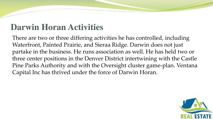 Darwin Horan Activities