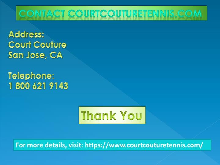 Contact Courtcouturetennis.com