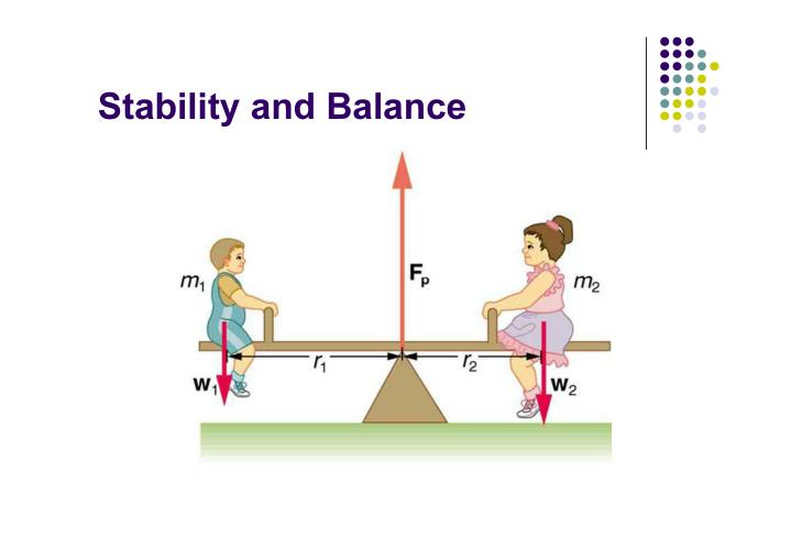 Stability and Balance