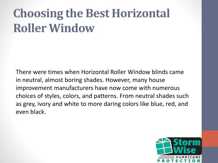 Choosing the Best Horizontal Roller