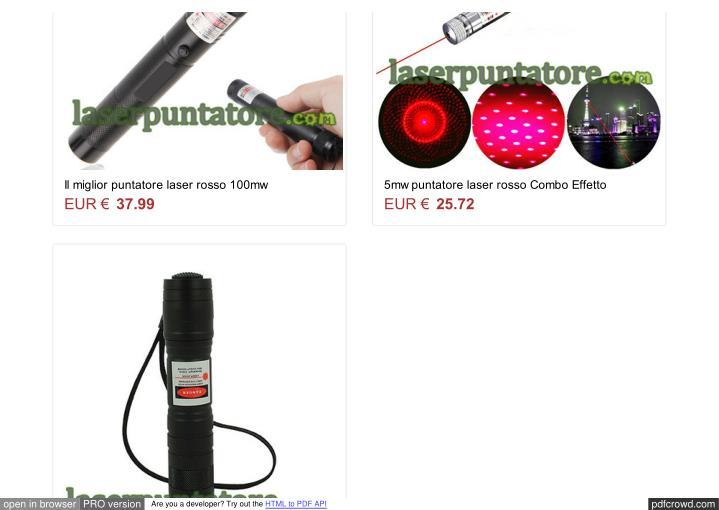 Il miglior puntatore laser rosso 100mw