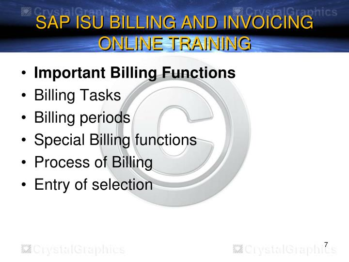 SAP ISU BILLING AND INVOICING ONLINE TRAINING