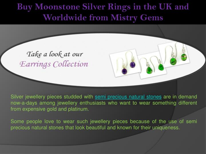Buy Moonstone Silver Rings in the UK and Worldwide from Mistry