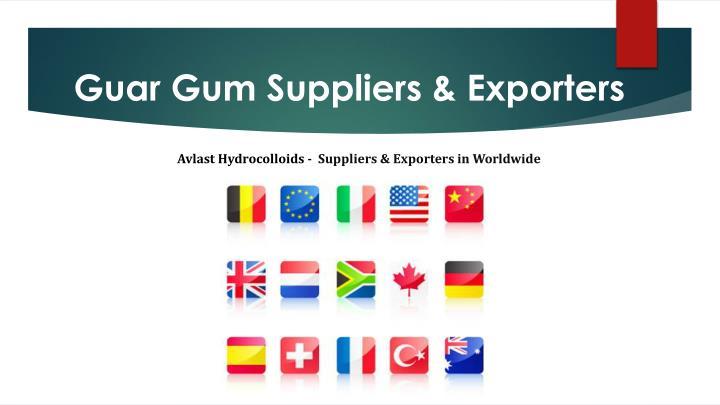 Guar Gum Suppliers