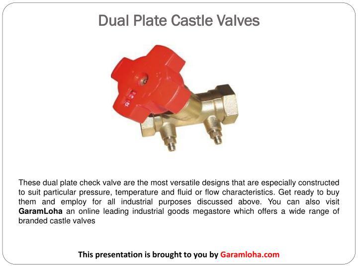Dual Plate Castle Valves