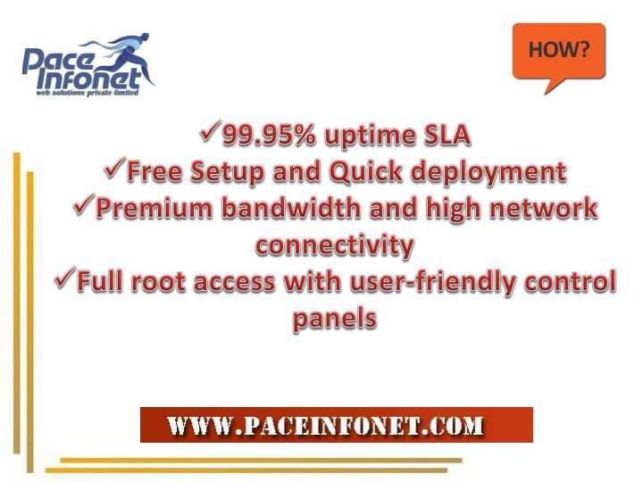 99.95% uptime SLA