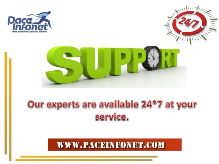 Our experts are available 24*7 at your service.